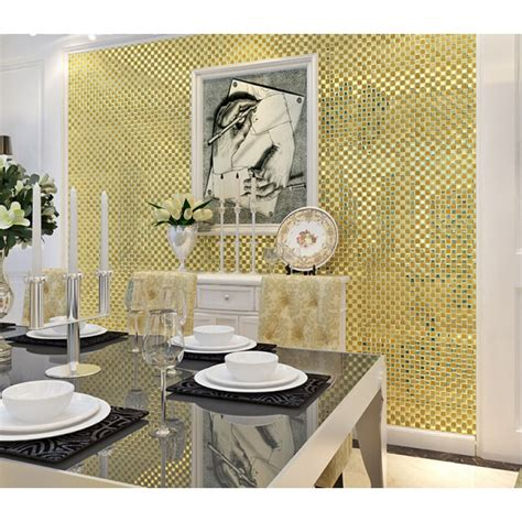 gold glass tile backsplash gold mirror glass tile patterns square
