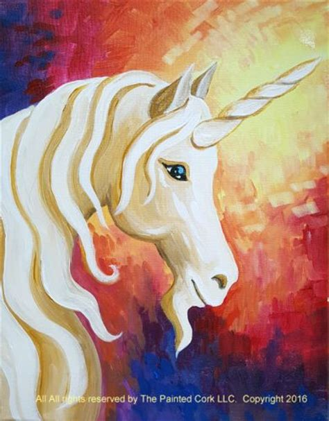 paint nite unicorn folsom family room family friendly event mystic