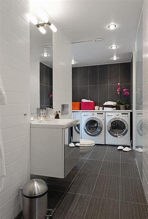 laundry in bathroom ideas integrated bathroom laundry room decor iroonie