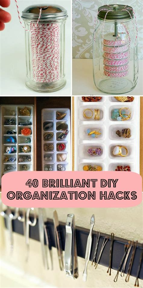 hacks for home organization 40 diy home organization hacks
