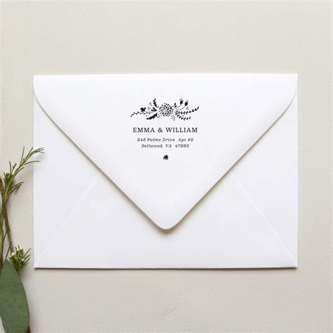 personalized rubber sts for wedding invitation return address name 28 images tree