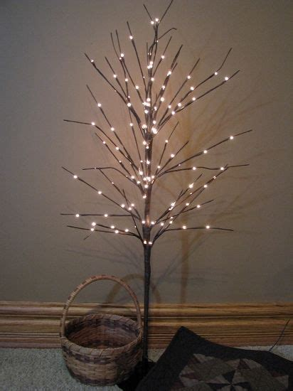 twig trees with lights twig light fall decorations