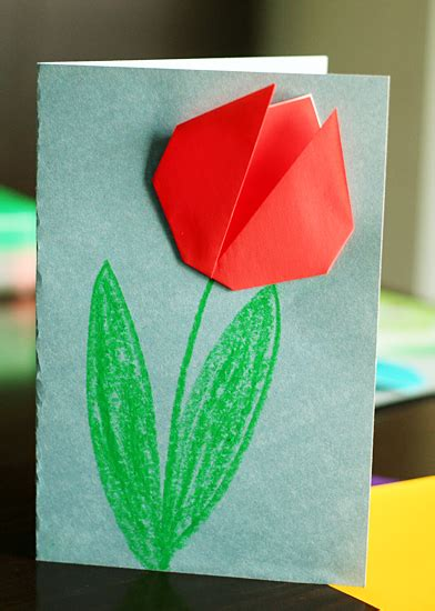 origami tulip easy create springtime with simple origami tulips make