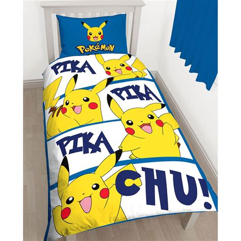 pikachu bed set pikachu single duvet cover set childrens bedroom