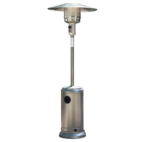 outdoor patio heater gas silver powder coated hammered metal steel outdoor bbq gas