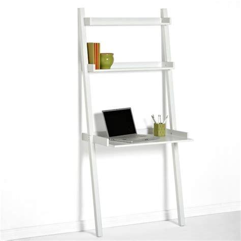 leaning bookshelf desk white linea leaning desk