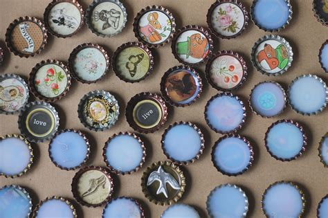 bottle cap crafts for where your treasure is with bottle caps
