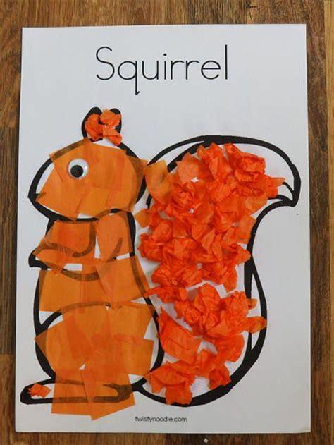 Craftingcherubsblog Two Squirrel Crafts Tissue Paper