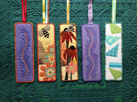 quilting craft projects quilted bookmarks pinteres