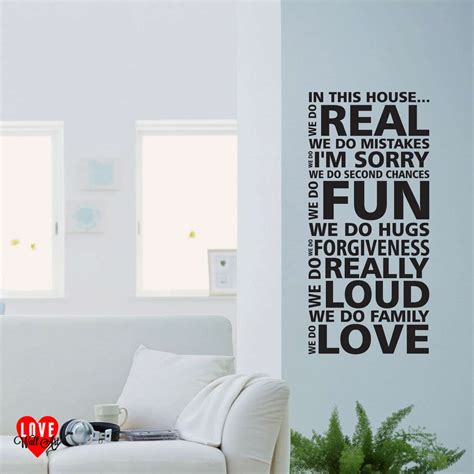 in this house wall sticker in this house we do wall quote wall sticker