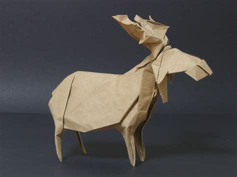 origami moose zing origami animals beasts and creatures