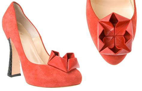 origami shoe beatrix ong oru suede pumps with origami gt shoeperwoman
