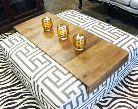 tray table for ottoman ottoman wrap tray reclaimed wood drink rest table for