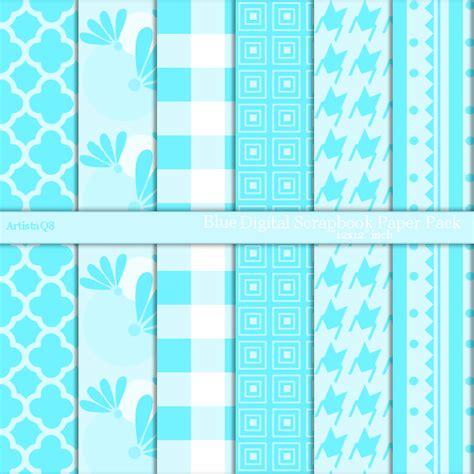 blue craft paper blue digital paper goods patterns scrapbook craft paper