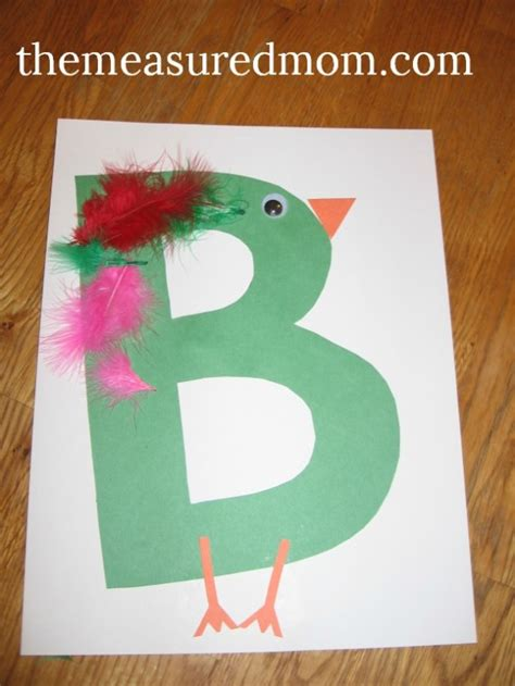 arts and crafts for preschool letter b projects for preschoolers the measured