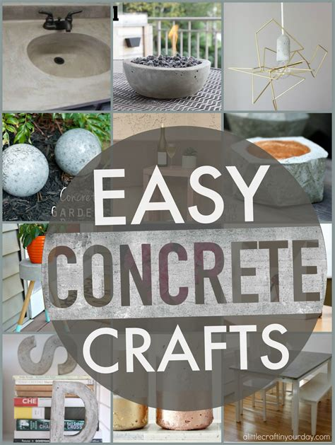 concrete craft projects easy concrete projects a craft in your day