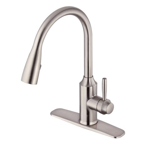 glacier bay kitchen sinks glacier bay invee pull sprayer kitchen faucet in