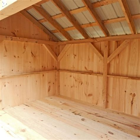 post woodworking sheds reviews 8x16 woodbin interior