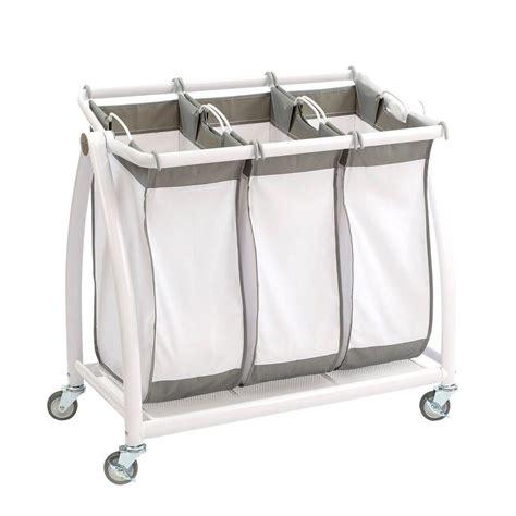 seville classics 3 bag tilt laundry sorter web250 the
