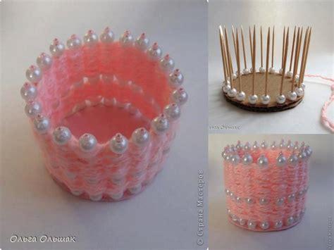 yarn craft projects diy pearl and yarn vase fabdiy