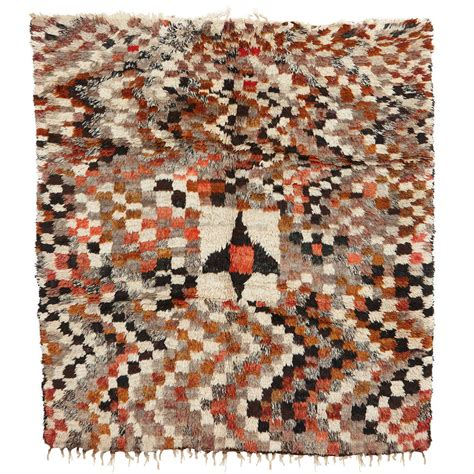 abstract checkerboard berber rug for sale at 1stdibs