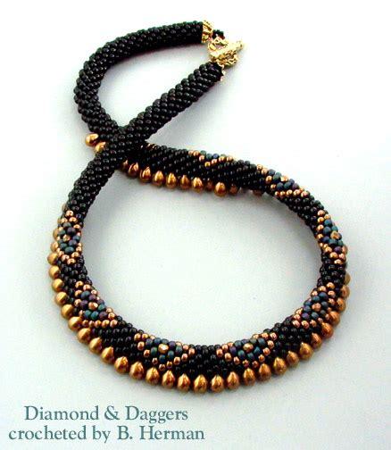 crochet bead necklace bead crochet necklaces