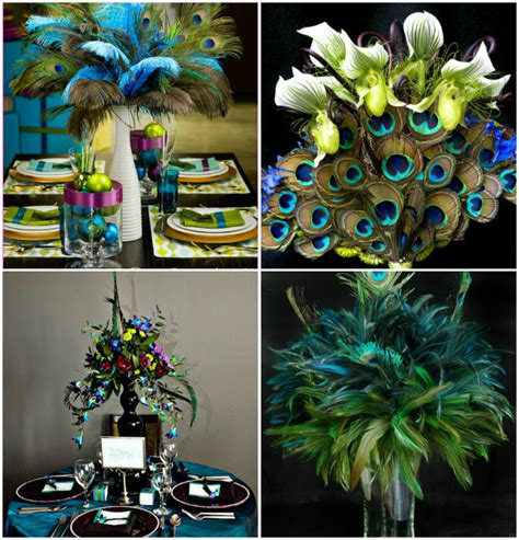 peacock themed decorations memorable wedding are peacock wedding feathers right for
