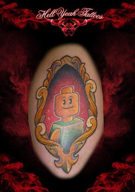 fantasy medallion lego tattoo by hellyeah tattoos