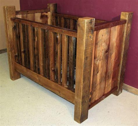 rustic log baby crib rustic barn wood baby crib with thick posts barn wood