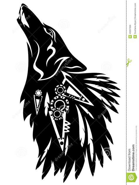 loup tribal illustration de vecteur image 43207356