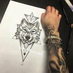 25 trending geometric wolf tattoo ideas on pinterest