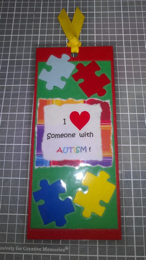 crafts for with autism autism awareness bookmark handmade by me bookmarks