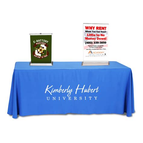 tabletop retractable banner stand with banner 30