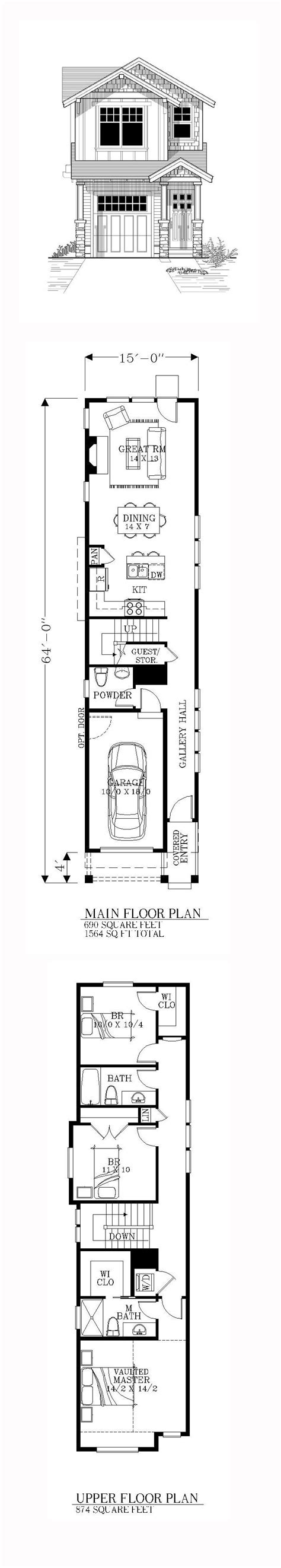 home plans for narrow lot best 25 narrow house plans ideas on