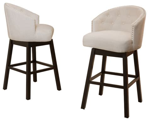 bar stool swivel chairs westman swivel bar chairs set of 2 beige transitional