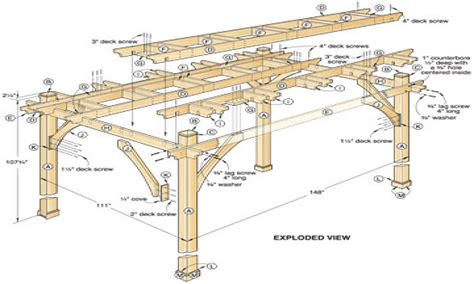 pergola blueprints free diy pergola plans free pergola design ideas