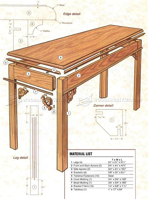 sofa table woodworking plans sofa table plans white rustic x console diy projects