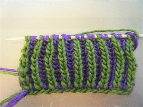brioche knitting 2 color 2 colour brioche stitch knit colors