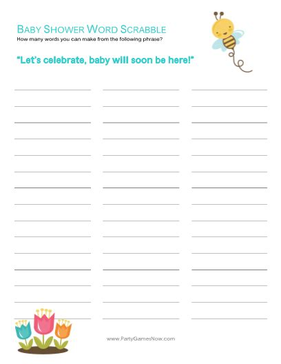baby scrabble baby shower word scrabble printable baby shower