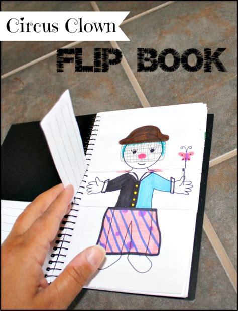 flip picture book circus clown flip book activity