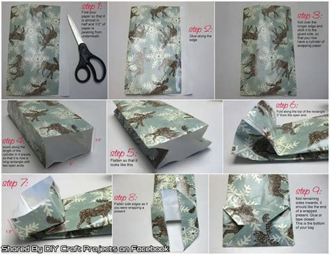 how to make a bag out of gift bags out of wrapping paper diy craft projects
