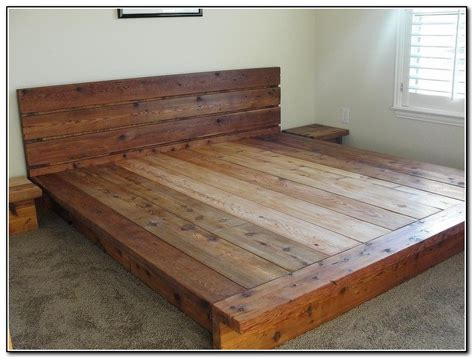 wood king size bed frames how can you create a platform bed best home design ideas