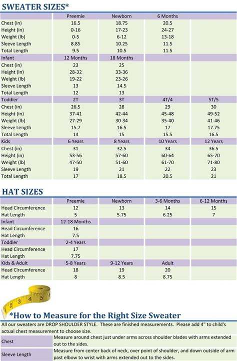 baby hat measurements knit best 25 baby size chart ideas on