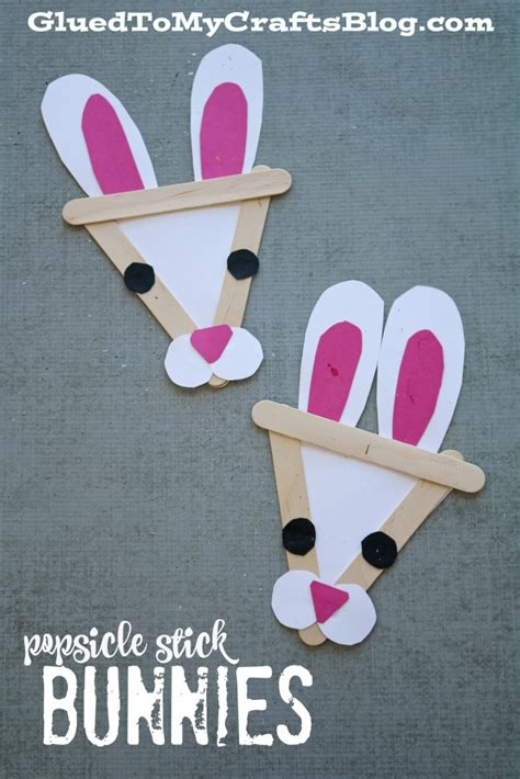 Popsicle Stick Bunny Kid Craft Glued To My Crafts
