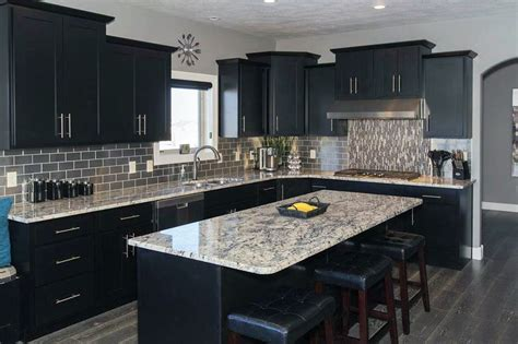 kitchens with black cabinets beautiful black kitchen cabinets design ideas