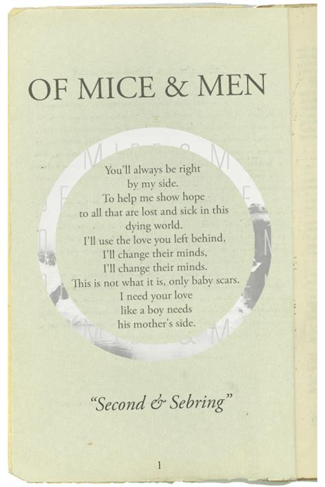 picture book lyrics mine quote lyrics vintage book of mice