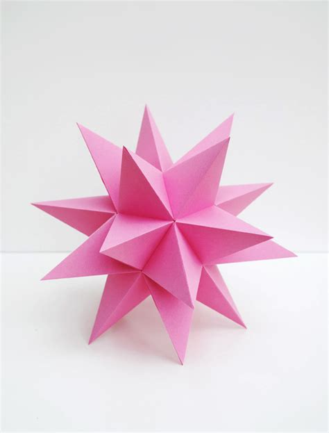 origami stellated dodecahedron stellated dodecahedrons minieco