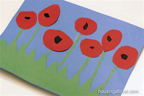 poppy crafts for poppies housing a forest