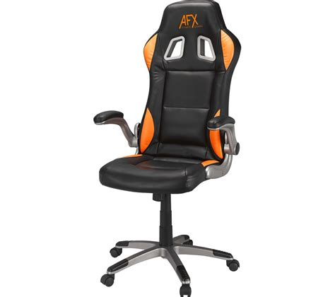 Orange Gaming Chair by Afx Afxchair16 Gaming Chair Black Orange Deals Pc World