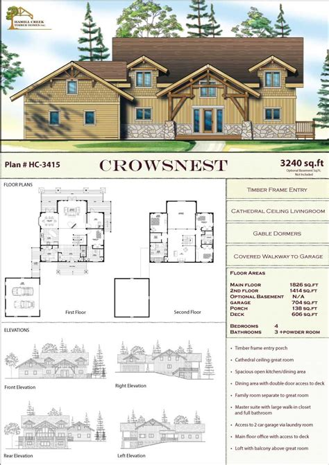 timber frame house floor plans timber frame home plans designs by hamill creek timber homes